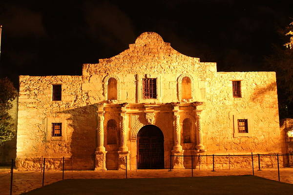 Photograph - The Alamo At Night by Sarah Broadmeadow-Thomas