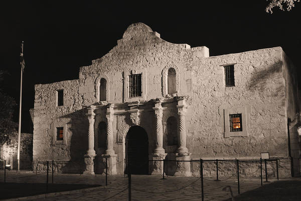 Photograph - The Alamo With Colour Splash by Sarah Broadmeadow-Thomas