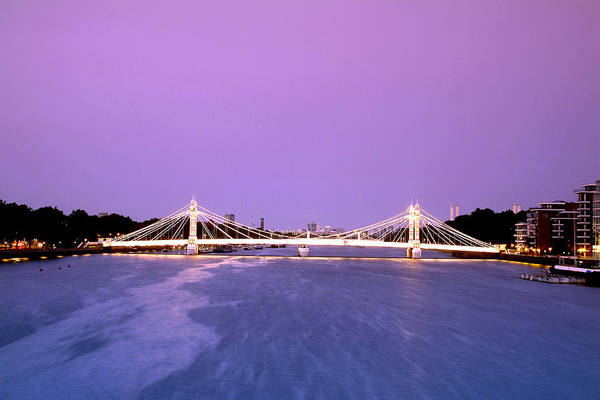 Kensington And Chelsea Photograph - The Albert Bridge Spanning The Thames River Between Battersea And Chelsea by Eric Nathan