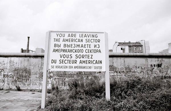 Photograph - Berlin Wall American Sector by Shaun Higson