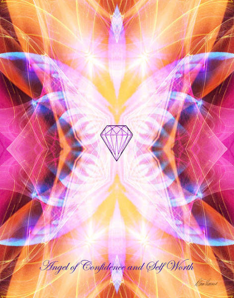 Digital Art - The Angel Of Confidence And Self Worth by Diana Haronis