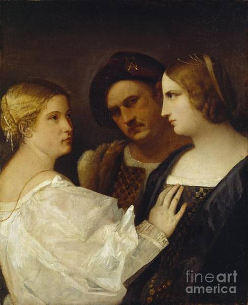Infidelity Wall Art - Painting - The Appeal  by Tiziano Vecellio Titian