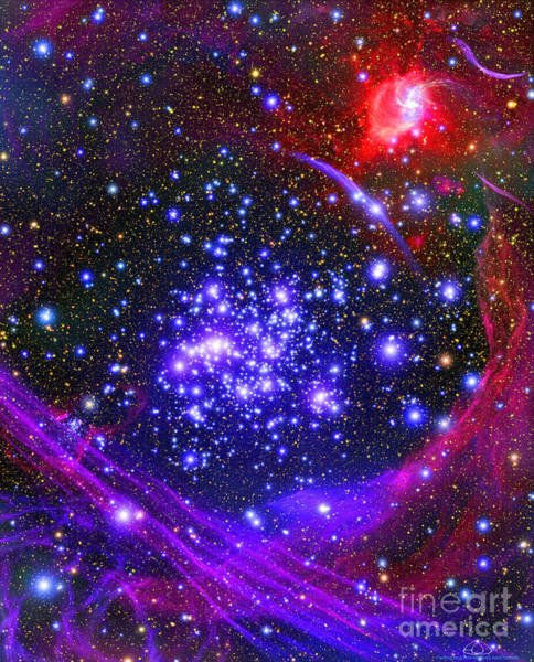 Digital Art - The Arches Star Cluster Deep by Stocktrek Images