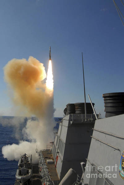 Aft Photograph - The Arleigh Burke-class Guided Missile by Stocktrek Images