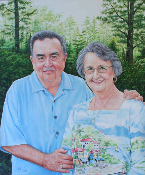 Painting - The Armstrongs by Mike Ivey