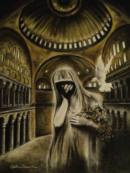 Holy Ghost Drawing - The Arrival by Carla Carson