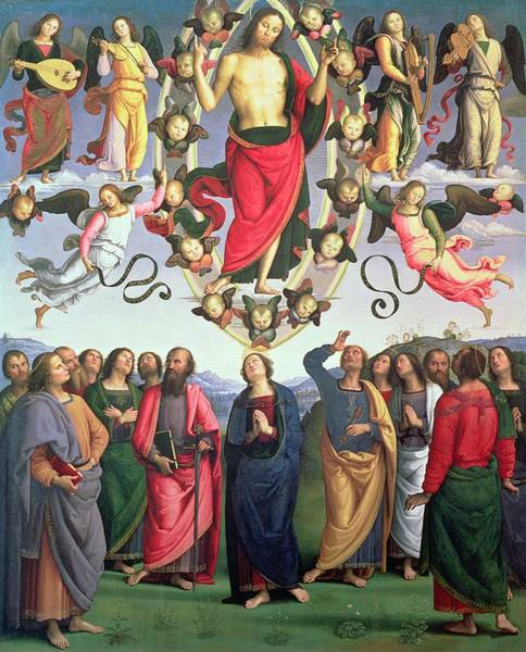 Ascension Painting - The Ascension Of Christ by Pietro Perugino