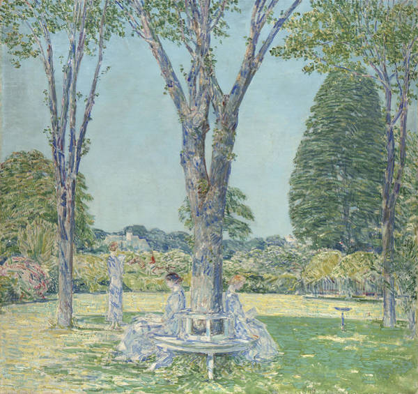 Long Shadow Painting - The Audition by Childe Hassam