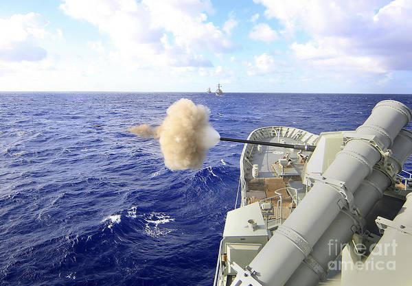 Gunfire Photograph - The Australian Navy Frigate Hmas by Stocktrek Images