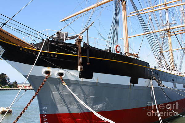 Photograph - The Balclutha . A 1886 Square Rigged Cargo Ship At The Hyde Street Pier In Sf California . 7d14136 by Wingsdomain Art and Photography