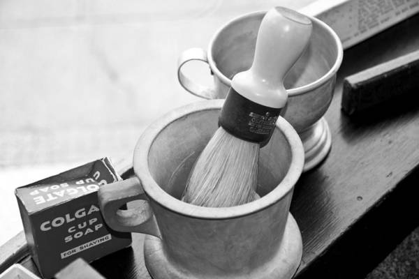 Photograph - The Barber Shop 5 Bw by Angelina Tamez