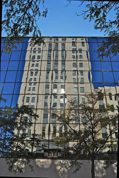 Bemis Photograph - The Battle Creek Towers Reflection 0190 by Michael Peychich