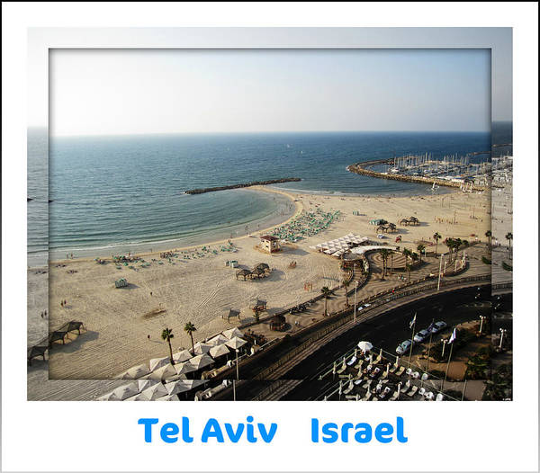 Photograph - The Beach Promenade  Tel Aviv Israel by John Shiron