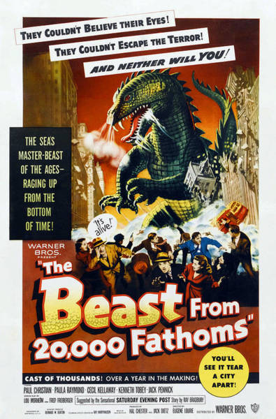 Snorting Wall Art - Photograph - The Beast From 20,000 Fathoms, 1953 by Everett