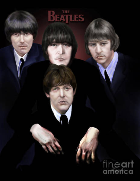 Ringo Star Wall Art - Painting - The Beatles by Reggie Duffie