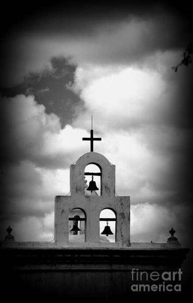 Photograph - The Bell Tower In Bw by Susanne Van Hulst