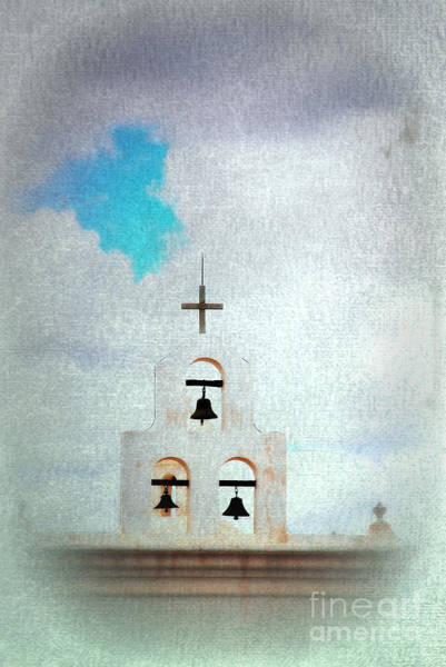 Photograph - The Bell Tower Mission San Xavier Tuscon Az by Susanne Van Hulst