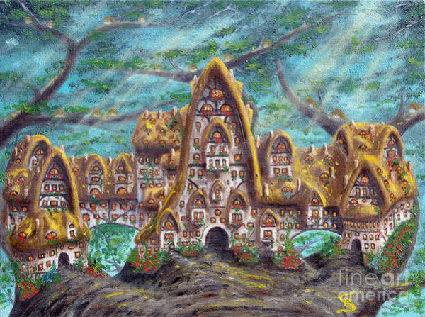 Painting - The Big Straddle House From Arboregal by Dumitru Sandru