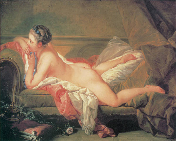 Boucher Wall Art - Painting - The Blonde Odalisque by Francois Boucher