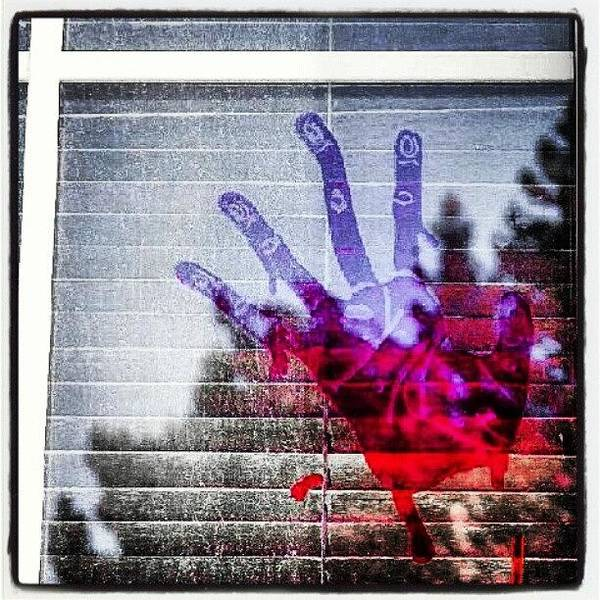 Wall Art - Photograph - The Bloody Hand Print On My Front by Becca Watters