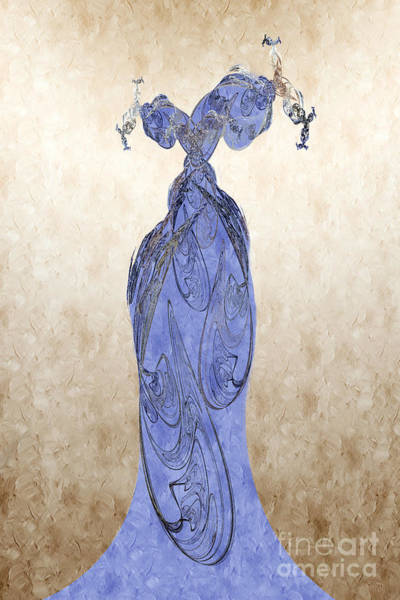 Digital Art - The Blue Dress by Andee Design