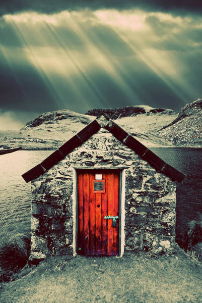 North Wales Wall Art - Photograph - The Boathouse by Meirion Matthias