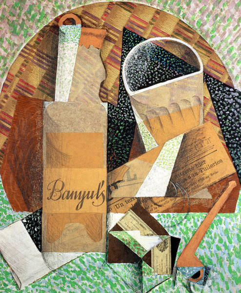 Wall Art - Painting - The Bottle Of Banyuls by Juan Gris