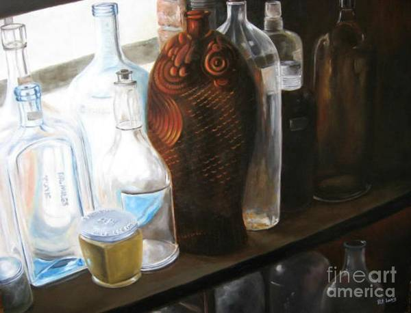 Wall Art - Painting - The Bottles  by Patricia Lang
