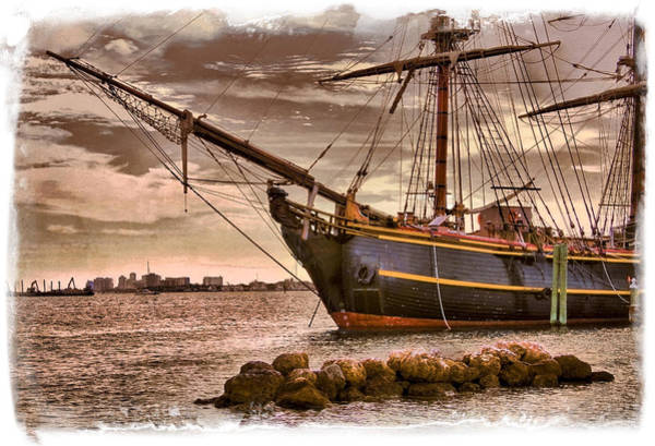 Photograph - The Bow Of The Hms Bounty by Debra and Dave Vanderlaan