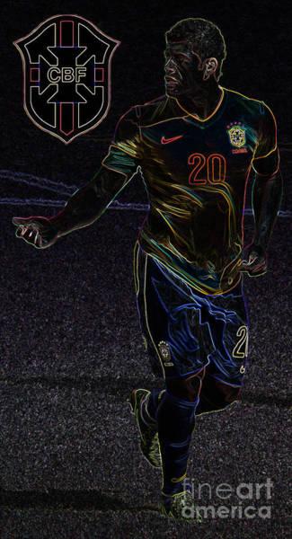 2010 Fifa World Cup Wall Art - Photograph - The Brazilian Hulk IIi by Lee Dos Santos