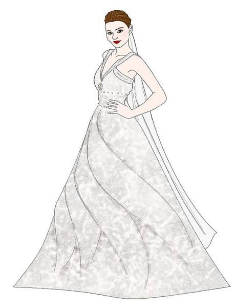 Katrina Digital Art - The Bride by Katrina Usigan