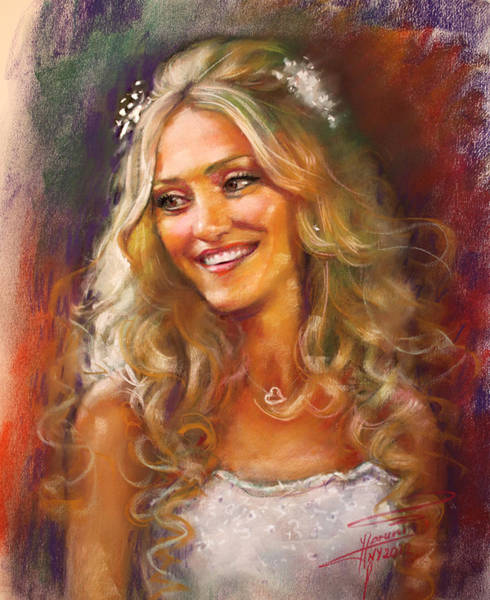 Pretty Wall Art - Pastel - The Bride by Ylli Haruni