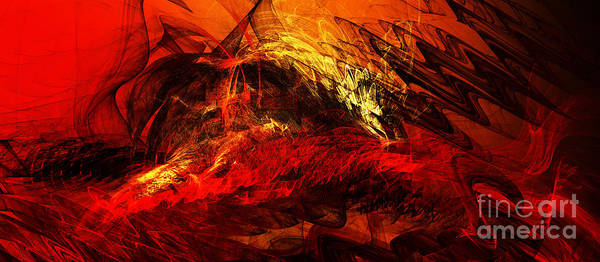 Quantum Digital Art - The Burning Of Atlanta by Andee Design