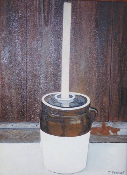 Butter Churn Painting - The Butter Churn by Terry Forrest