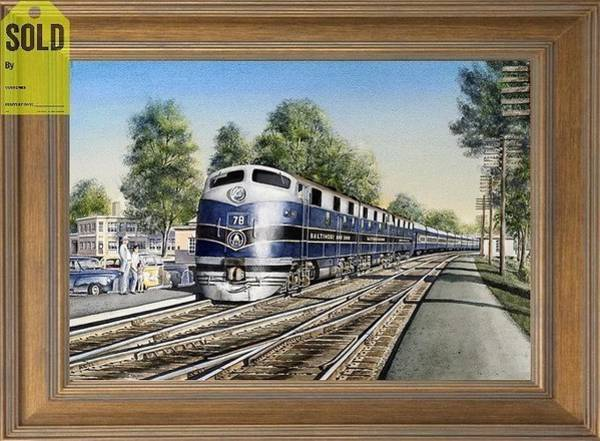 Freight Trains Painting - The Capitol Limited by Chris Nelson