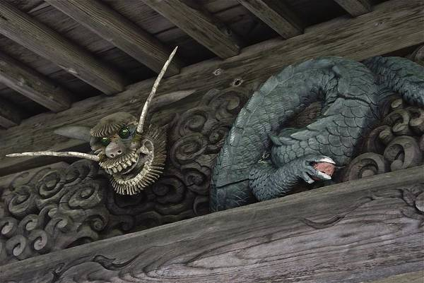 The Carved Shrine Dragon Art Print