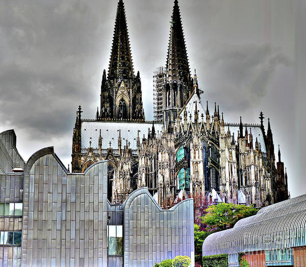 The Cathedral In Cologne On The Rhine Art Print