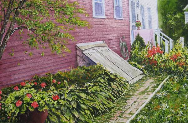 Back Door Painting - The Cellar Door by John Bowen