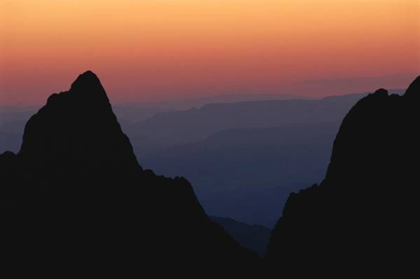 Chisos Mountains Photograph - The Chisos Mountains At Sunset by Medford Taylor