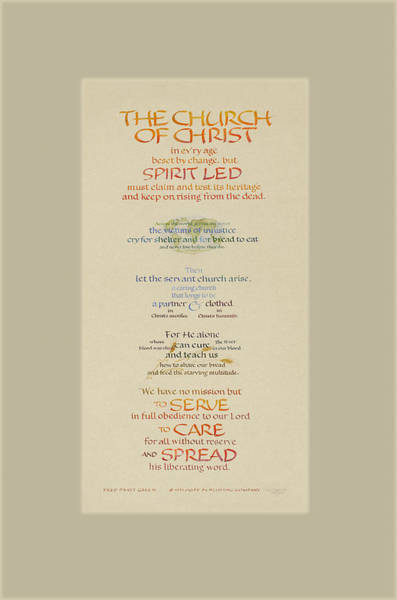 Choral Wall Art - Painting - The Church Of Christ In Every Age II by Judy Dodds