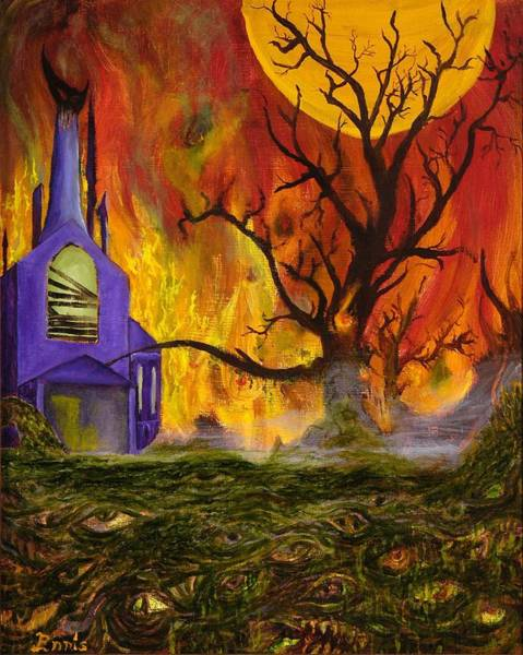 Painting - The Church Of Ruin by Christophe Ennis