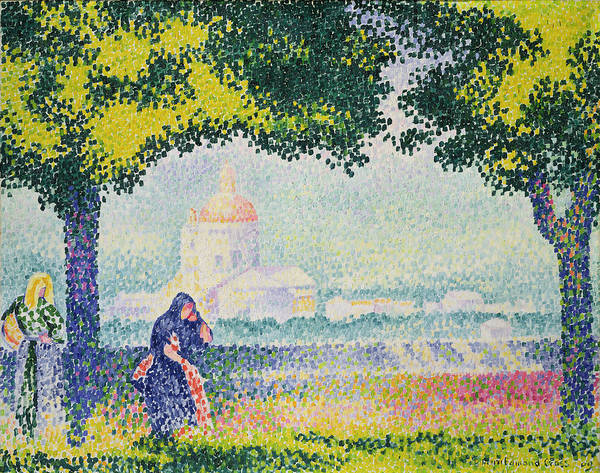 Assisi Painting - The Church Of Santa Maria Degli Angeli by Henri-Edmond Cross