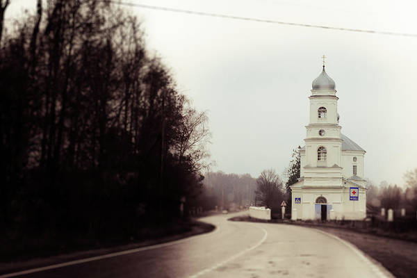 Photograph - The Church On The Road by Michael Goyberg