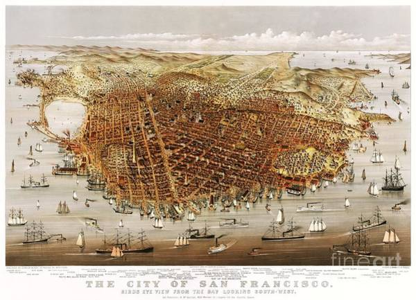 Currier And Ives Painting - The City Of San Francisco by Pg Reproductions