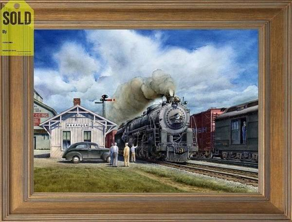 Freight Trains Painting - The Class M1 4-8-2 Locomotive by Chris Nelson