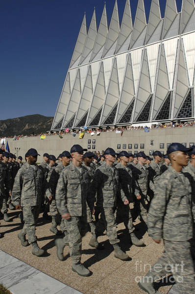 Photograph - The Class Of 2012 Marches In Front by Stocktrek Images
