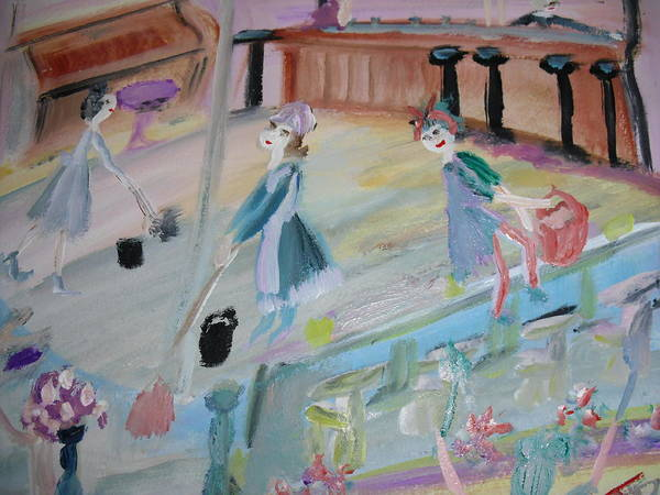 Piano Bar Painting - The Cleaners At The Club Dance by Judith Desrosiers
