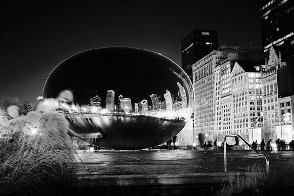 Photograph - The Cloud Gate At Night by Laura Kinker