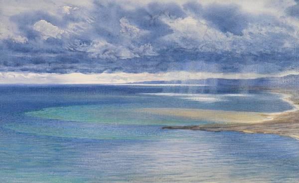Sicily Painting - The Coast Of Sicily From The Taormina Cliffs by John Brett