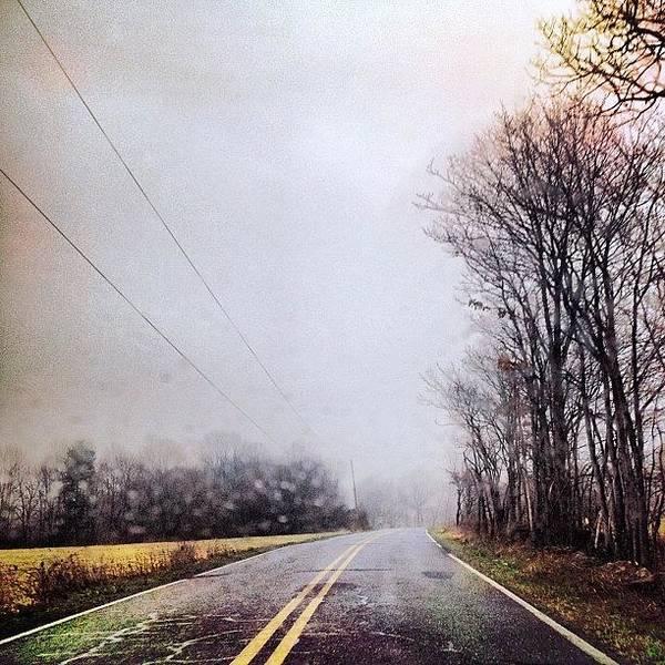 The Cold Dark Open Road Art Print